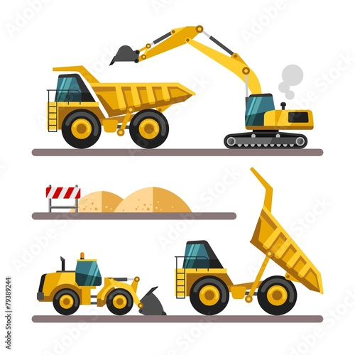 Construction equipment and machinery. - 79389244