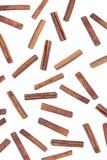 Scattered aromatic cinnamon sticks. poster