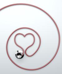Stetoscopio, strumento auscultazione cardiaca, cuore