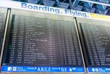 Anzeigetafel am Flughafen Frankfurt