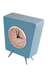 Aqua retro clock