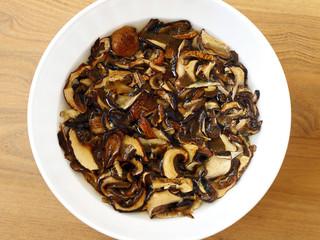 Soaked Dried Mushrooms
