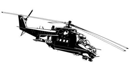 attack helicopter Mi-24