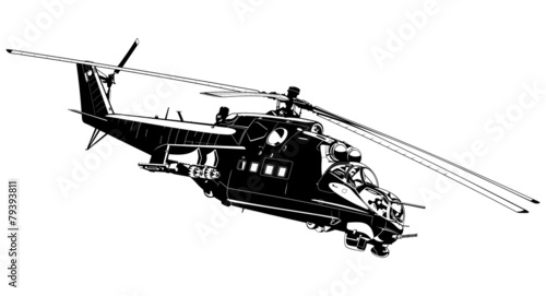 attack helicopter Mi-24 - 79393811