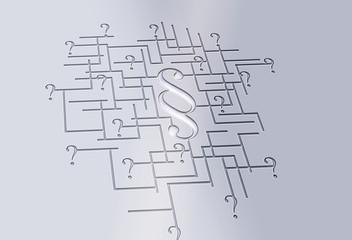 Labyrinth - Paragraf - Fragezeichen