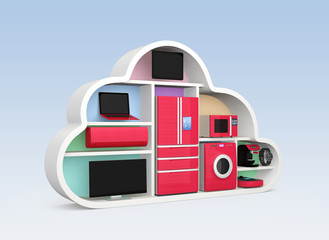 Smart  appliances with cloud shape container