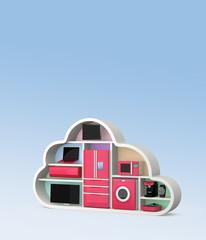 Smart  appliances with cloud computing concept