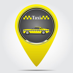 Icon label with a taxi vector illustration