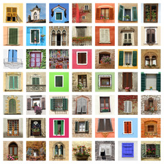 beautiful old windows collage