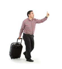 Passanger with suitcase