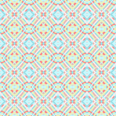 Beautiful seamless geometric pattern in delicate colors