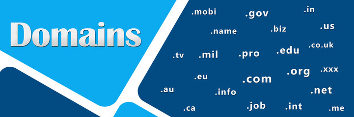 Domains Blue With Keywords
