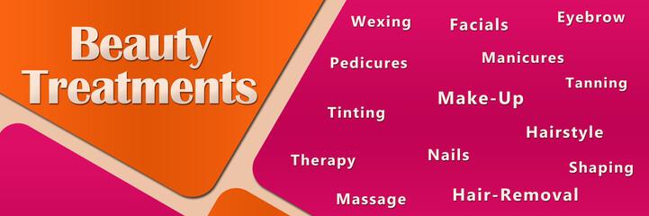 Beauty Treatments Peach Pink
