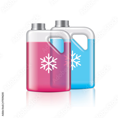 Antifreeze isolated on white vector - 79396205
