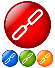 Simple link, chain link icons.