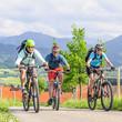 Tour mit dem Mountainbike in den Bergen