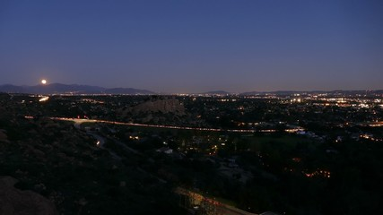 Los Angeles Valley Moonrise Time Lapse