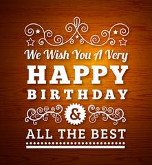 Birthday greetings.