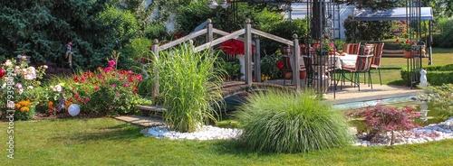 Leinwanddruck Bild Gartenparadies