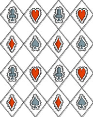 Seamless pattern with card suits