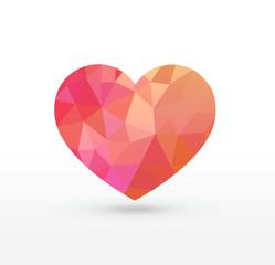 Rose Triangular heart
