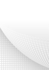 White and Gray Abstract Background with Dotted Page Curl