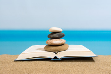 Book on the beach in relax