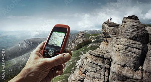 canvas print picture Tourism.Sport. GPS