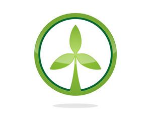 Leaf Tea Green Circle