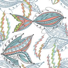 Seamless underwater life pattern.