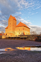Trakai castle view from inner yard
