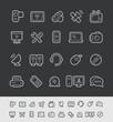 Communication Icons // Black Line Series -- EPS 10+