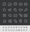 FTP & Hosting Icons // Black Line Series -- EPS 10+
