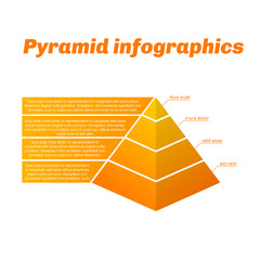 Grow pyramid infographics with gradient.