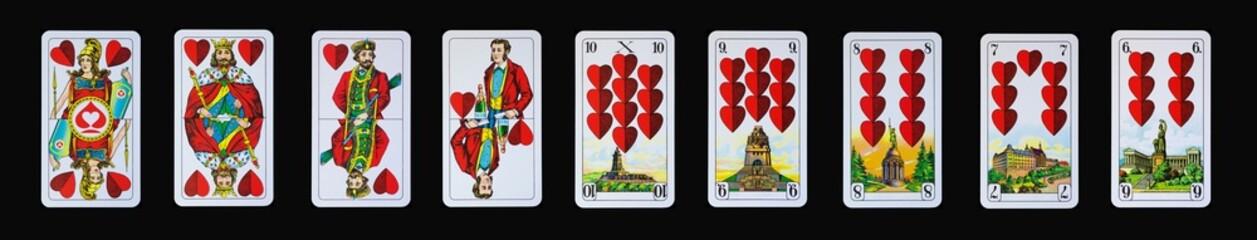 Spielkarten - Schnapskarten  HERZ