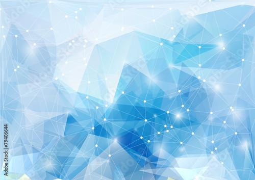 Leinwanddruck Bild Mosaik Polygon Hintergrund