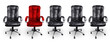Office Chairs in Black and Red, Stand out Concept - 79407058