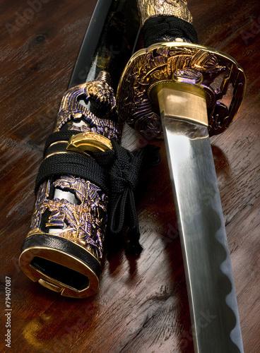 Japanese Samurai Sword. Poster