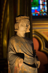Paris - Sainte Chapelle. Statue of Louis IX  King of France