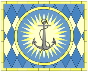 Anchor, Hope (Christian Symbol), stained glass