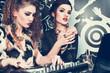 Obrazy na płótnie, fototapety, zdjęcia, fotoobrazy drukowane : glamorous girls in a night club djing