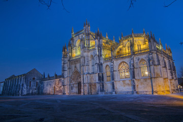 View of the famous landmark, Monastery of Batalha, Portugal.