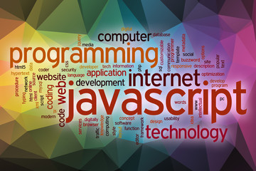 JavaScript word cloud with abstract background