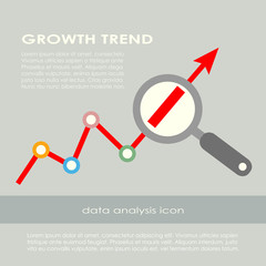 Growth trend poster template