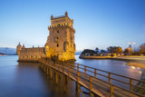 Famous landmark, Tower of Belem, located in Lisbon, Portugal.