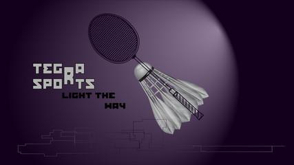 badminton background with slogan