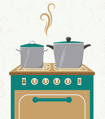 Kitchen design, vector illustration.