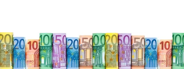 Euroscheine als Hintergrund