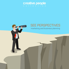 Flat style business perspectives web template concept vector