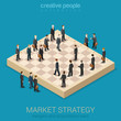 Corporate business market strategy flat style 3d isometric - 79412643